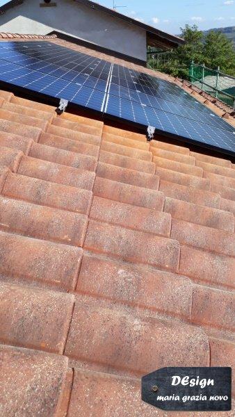 copertura in coppi con impianto fotovoltaico 3kw