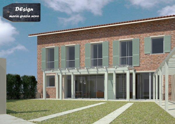 progetto passivhaus con facciata ventilata in mattoni