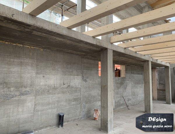 muro e solaio in cemento armato al piano terra