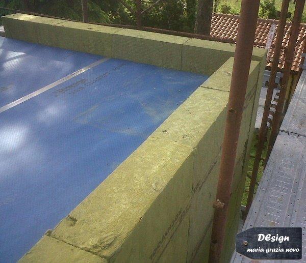 isolamento tetto piano con isolante in fibra minerale spessore 30 cm