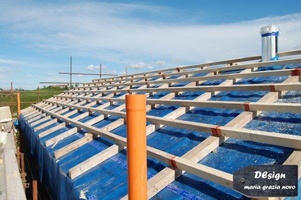 tetto a due falde in latero-cemento, tetto ventilato, sigillatura parte esterna