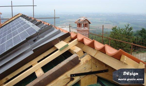 tetto in legno ventilato con impianto fotovoltaico e solare termico