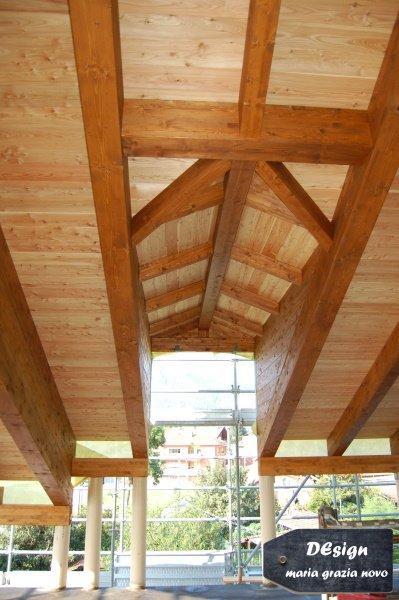 vista interna abbaino in legno