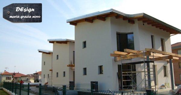 porticato in legno, serramenti in legno-alluminio con triplo vetro basso-emissivo